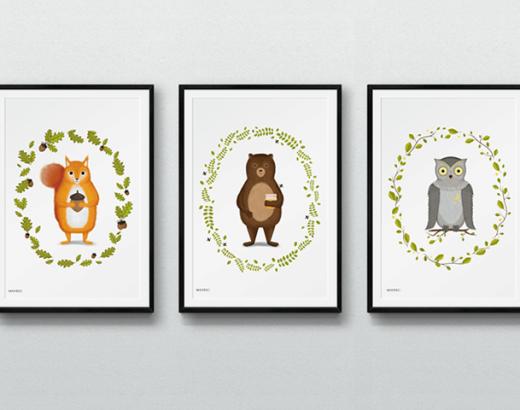 Leśne zwierzęta – obrazki dla dzieci do wydrukowania