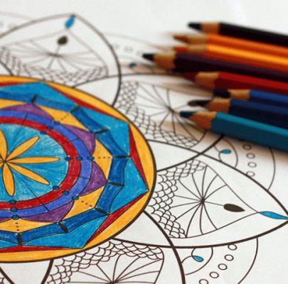 Kolorowanka dla dorosłych do druku – mandala