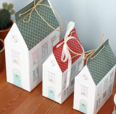 Papierowy domek – pudełko na prezenty | DIY
