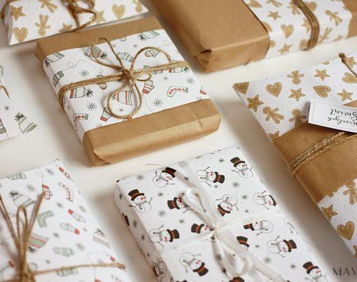 Świąteczne pudełeczka i papier ozdobny do wydrukowania