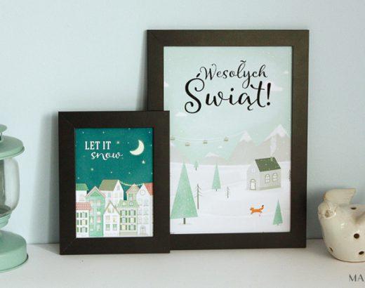 Zimowe plakaty do wydrukowania (+kartki świąteczne)