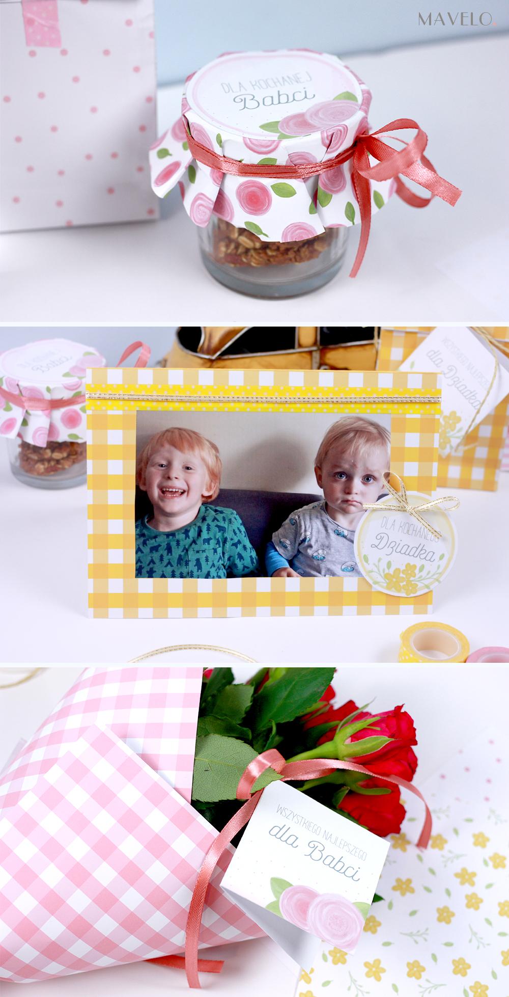 prezent na dzień babci i dzień dziadka - wydrukuj