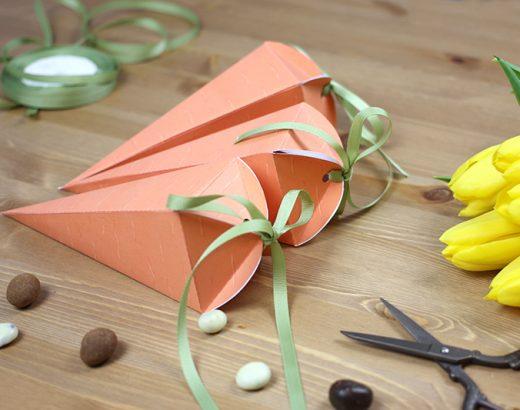 Marchewkowe pudełka na prezenty
