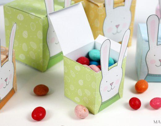 Pastelowe, uszate pudełka na Wielkanoc