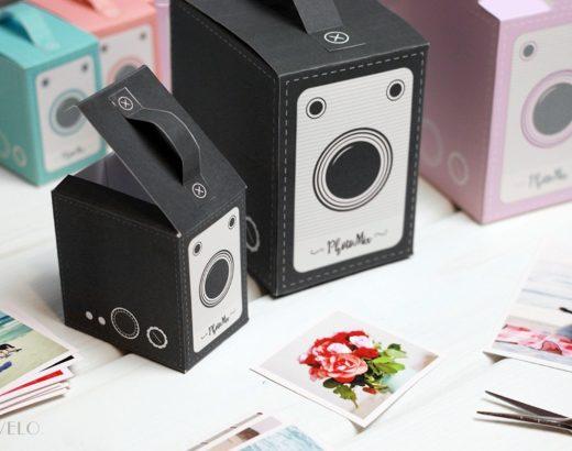 Papierowy aparat fotograficzny – pudełko do wydruku