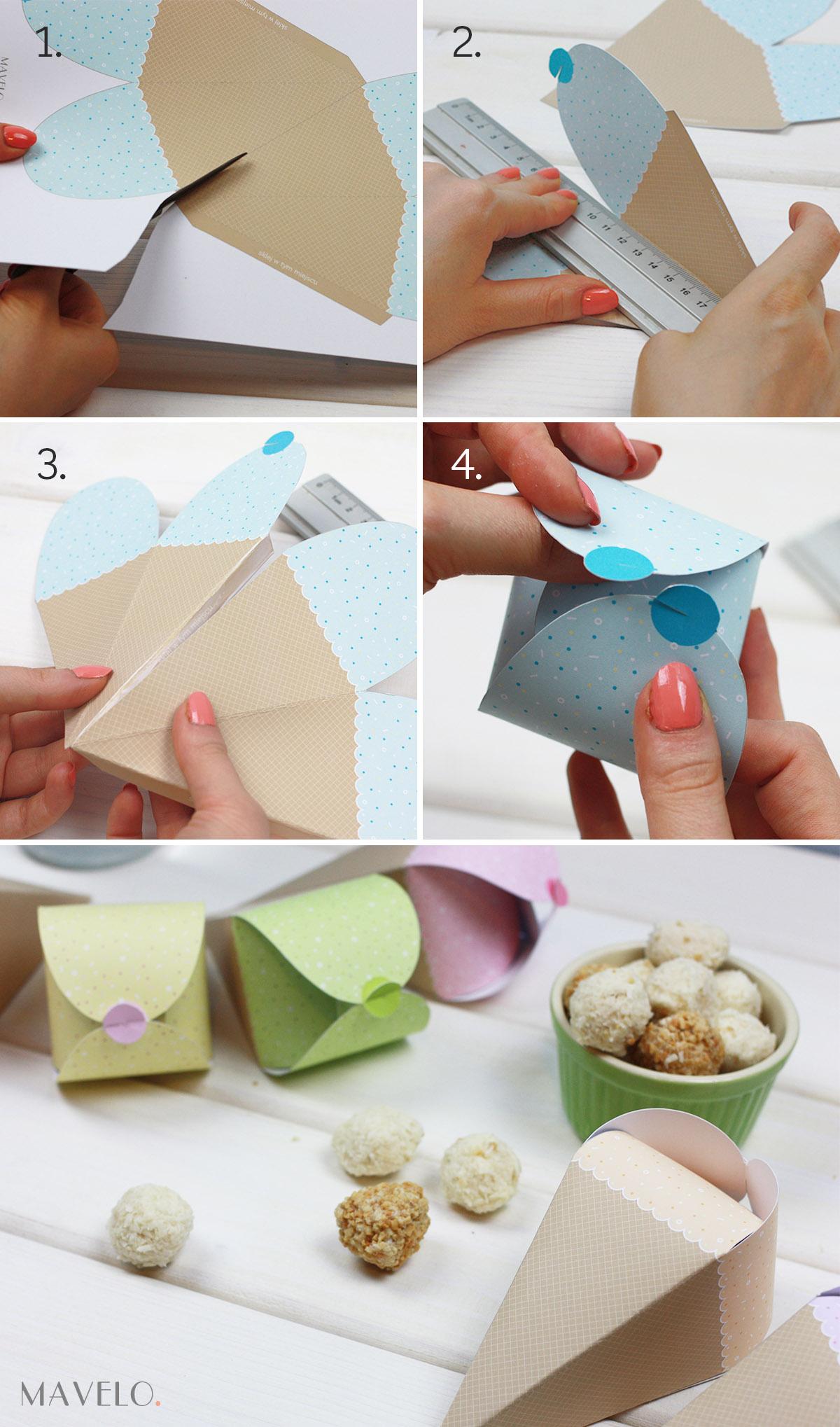 pastelowe pudełka do wydruku lody