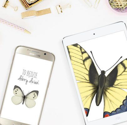Tapety na telefon i tablet z motylkami (9 wzorów)