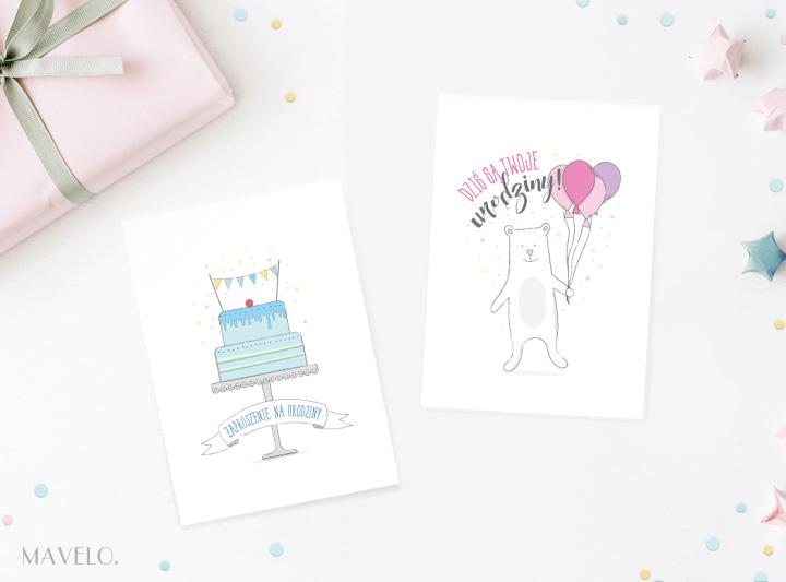 Kartki i zaproszenia na urodziny do wydruku