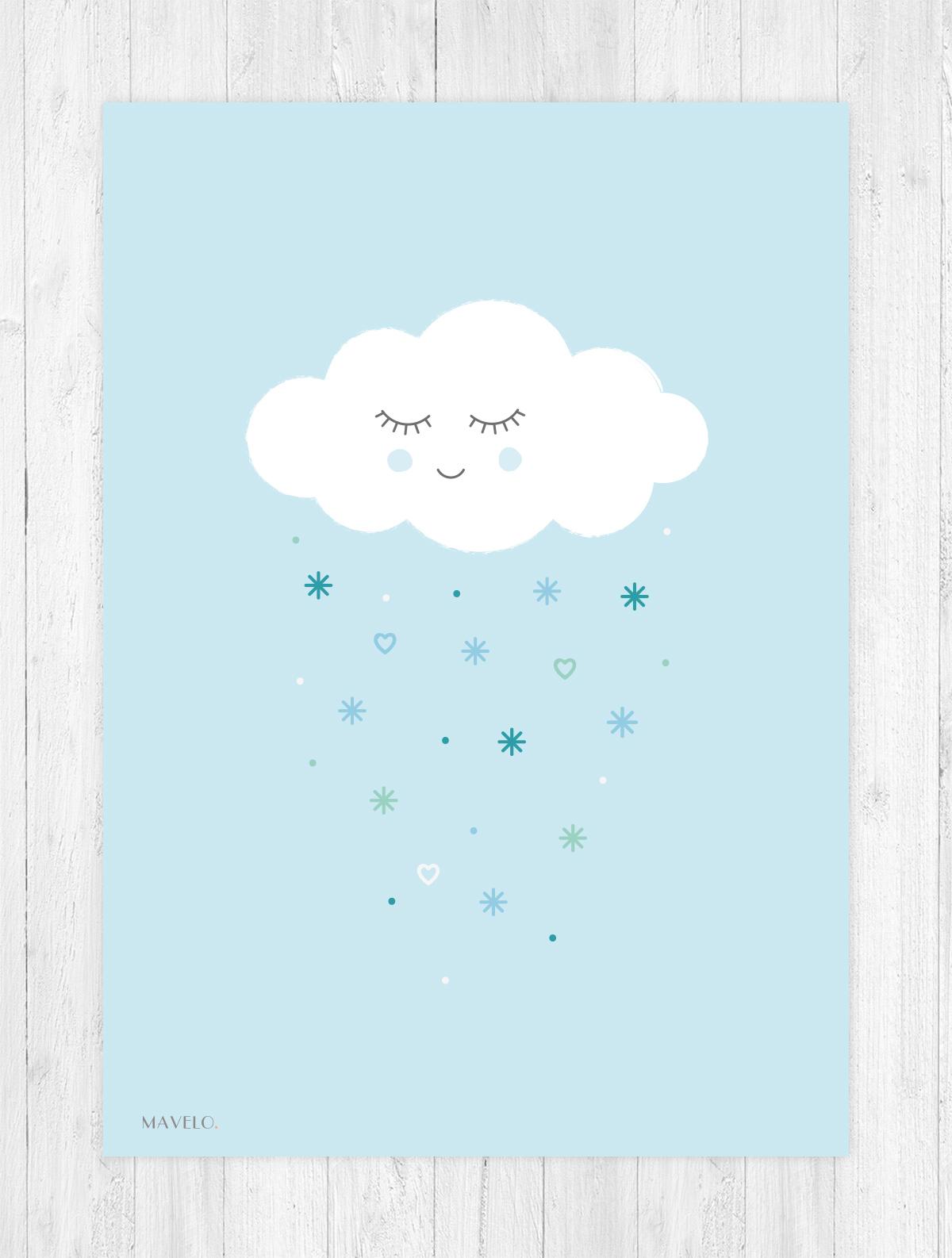 plakat z chmurką do druku / free printables poster