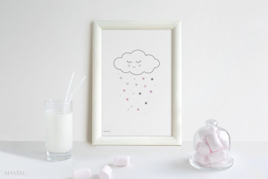 plakat z chmurką do druku