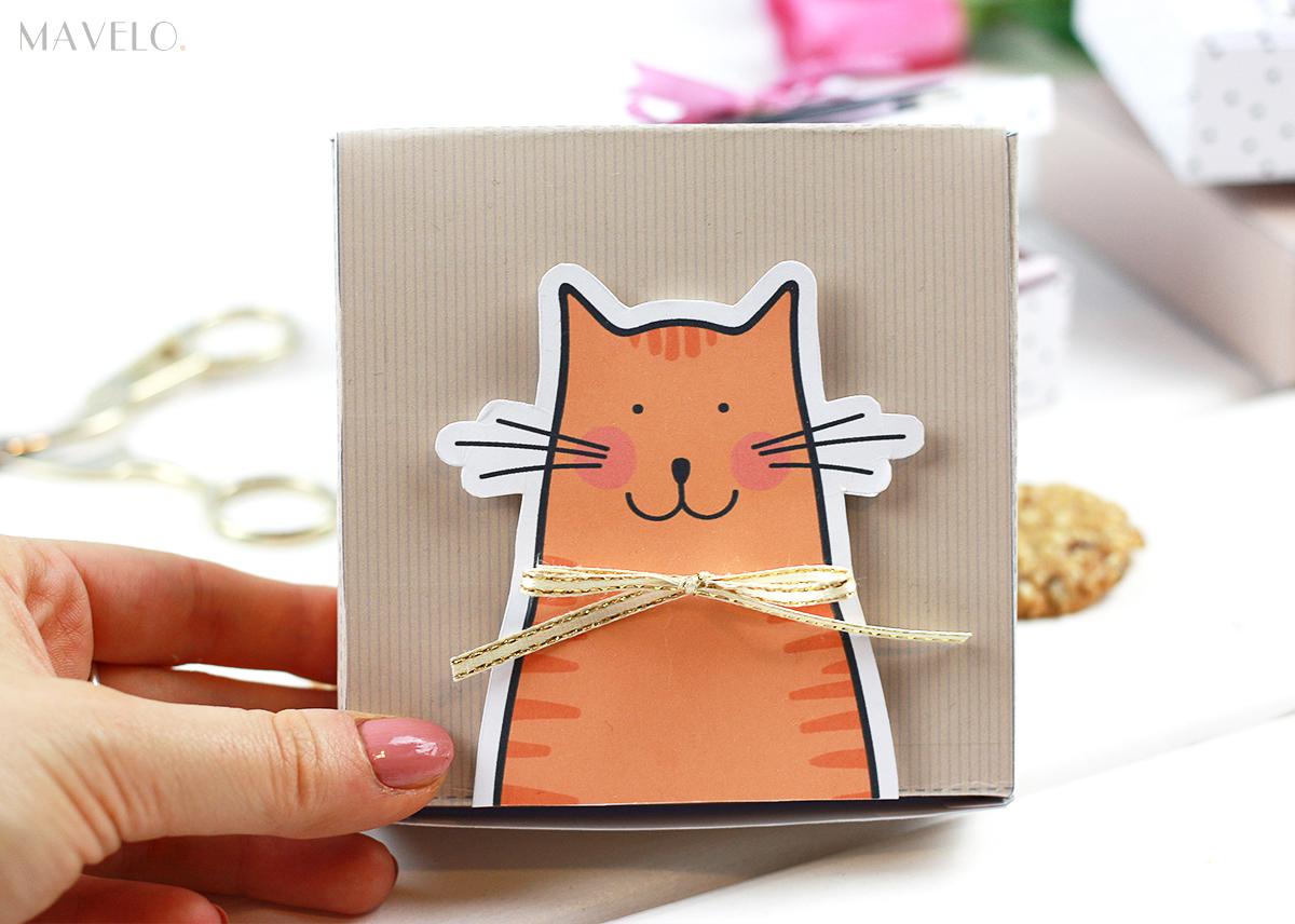 pudełka z kotkami do druku