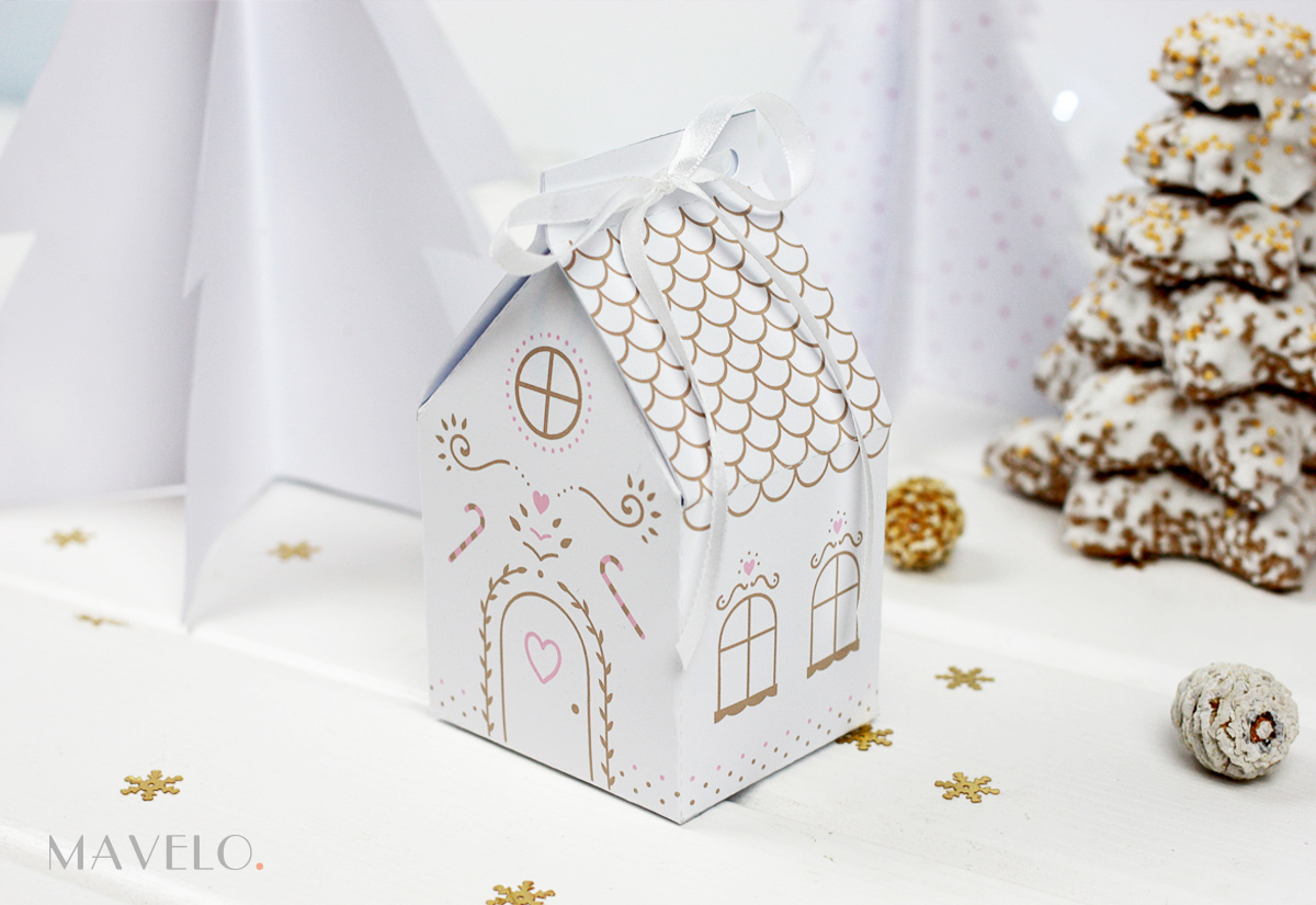 Piernikowa chatka do druku / Gingerbread House free printables / mavelo