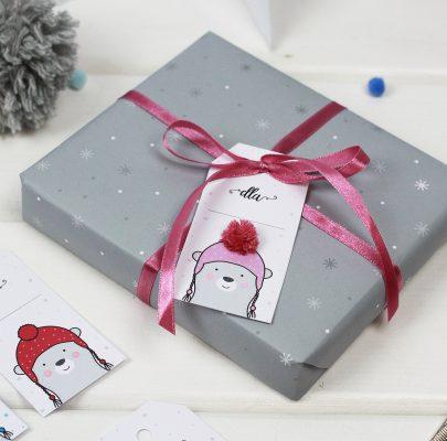 Zimowe etykiety na prezenty (+ papier ozdobny)