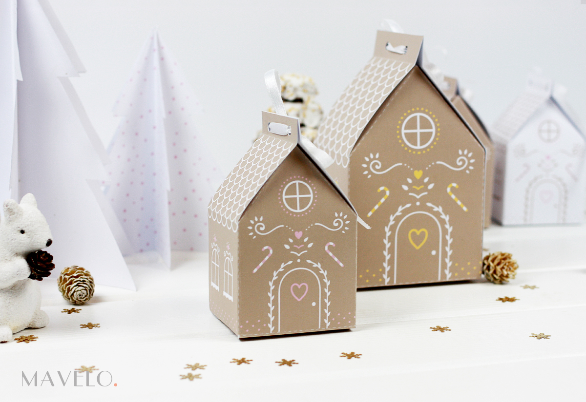 Piernikowa chatka do wydrukowania / Gingerbread House free printables / mavelo