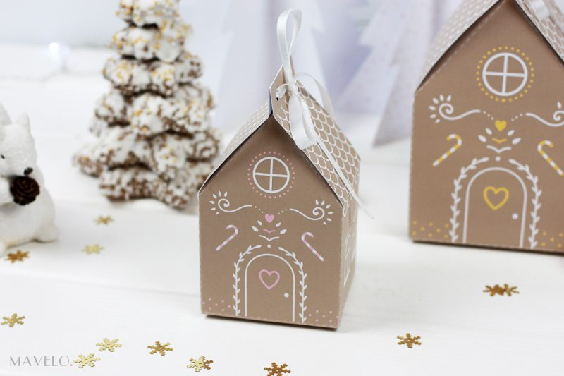 Piernikowa chatka do wydrukowania / Gingerbread House free printables / mavelo