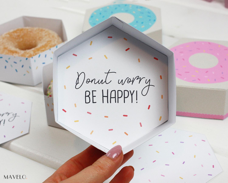 pudełko donut do druku / freebies