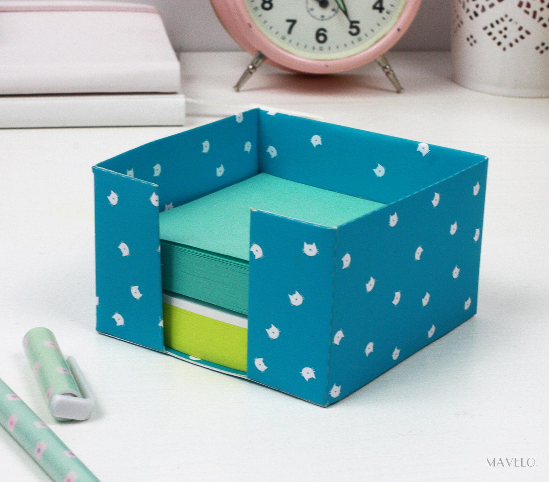 kubik - pojemnik na karteczki do druku / freebies / DIY