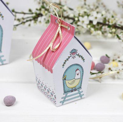 Wielkanocne pudełeczka z folkowym motywem do druku