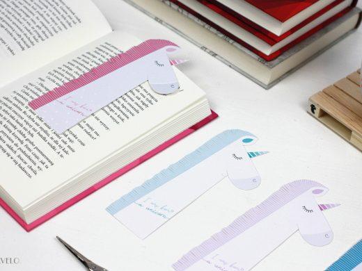 zakładki do książek do druku - jednorożce