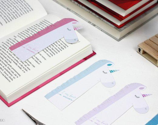 Zakładki do książek z jednorożcami