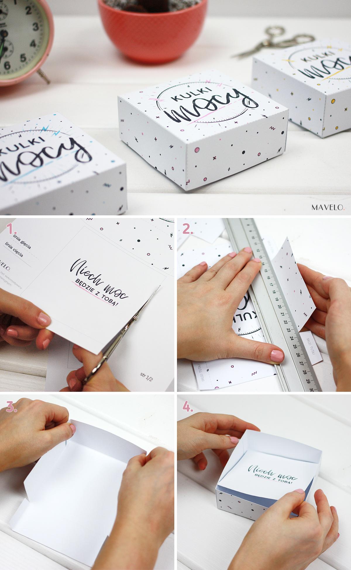 Kulki Mocy - pudełko do druku