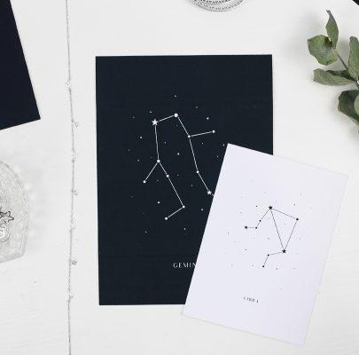 Plakaty ze znakami zodiaku – gwiazdozbiory do druku