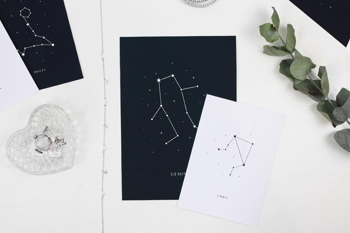Plakaty ze znakami zodiaku