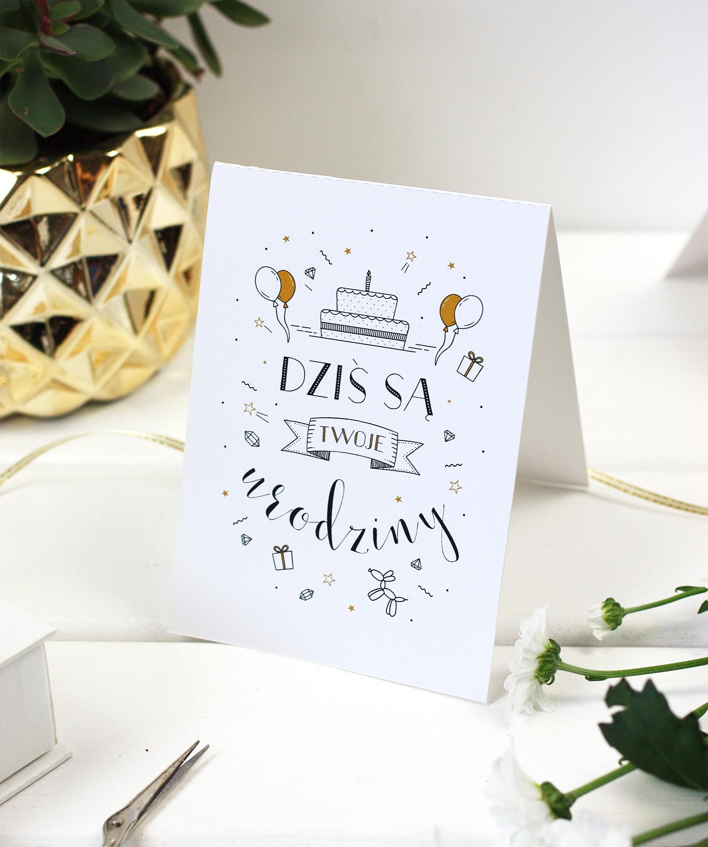 Kartki urodzinowe do druku