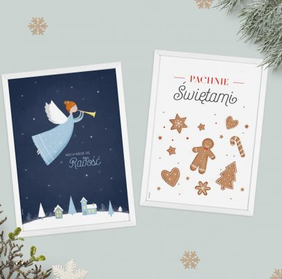 Świąteczne plakaty i kartki do druku! Boże Narodzenie 2017