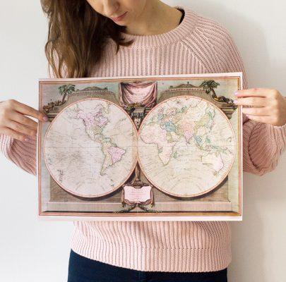 Piękne mapy do druku w dużych rozmiarach: retro, nieba, aktualne śwata i inne. Genialna strona z setkami niezwykłych plików do pobrania!