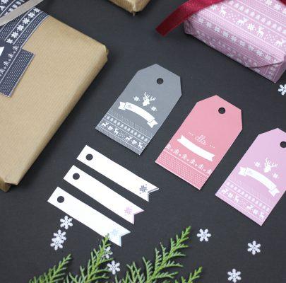 Etykiety prezentowe z norweskim wzorkiem (+papiery ozdobne!)