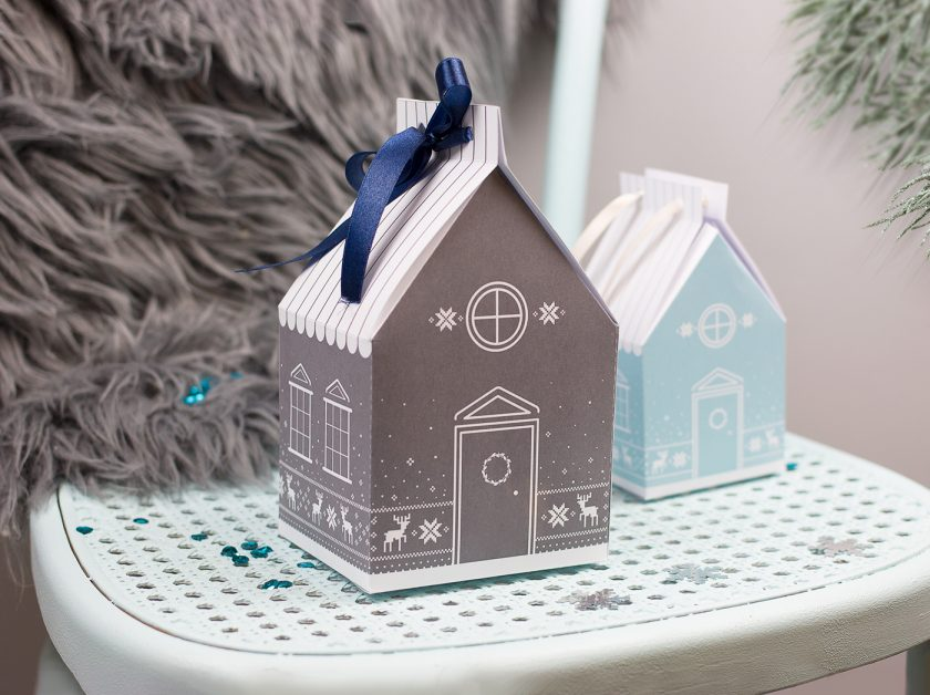 Zimowe domki do wydrukowania