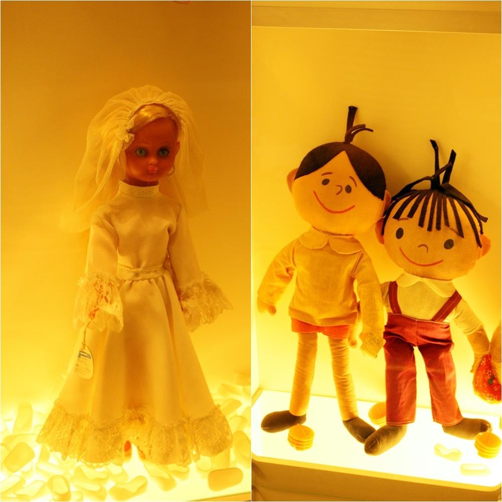 lalka ślubna, Bolek i Lolek - muzeum zabawek w Kielcach