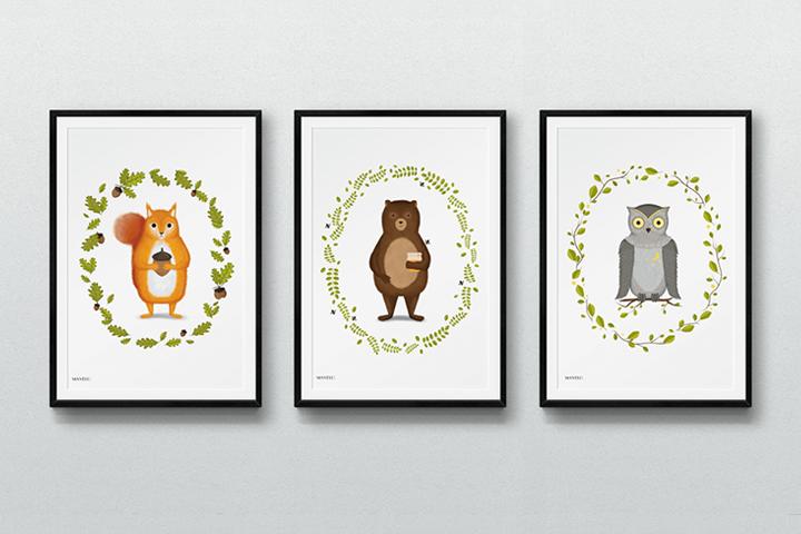 Leśne Zwierzęta Obrazki Dla Dzieci Do Wydrukowania Mavelo