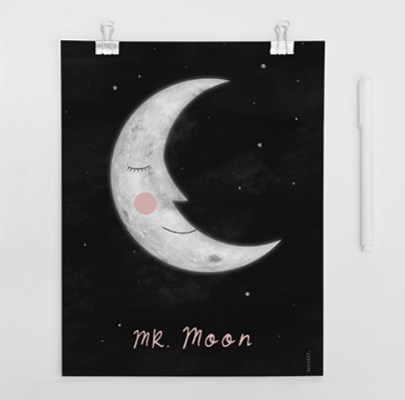 mr. Moon – plakat do wydrukowania