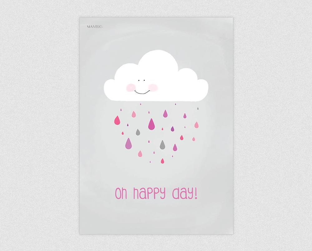 plakat z chmurką