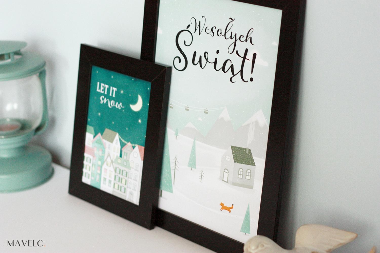 Zimowe Plakaty Do Wydrukowania Kartki świąteczne Mavelo