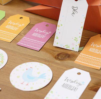 Wielkanocne etykiety do wydrukowania