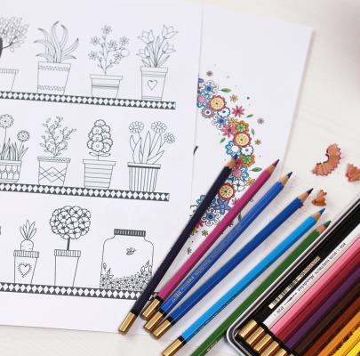 Wiosenne kolorowanki dla dorosłych do druku