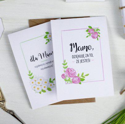 Kartki i etykiety na Dzień Mamy (2 wzory do wydrukowania)