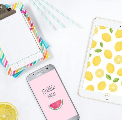 Owocowe tapety na telefon i tablet (6 wzorów)