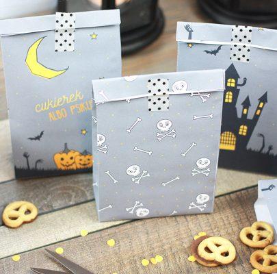 Dekoracje na Halloween – torebeczki na słodycze
