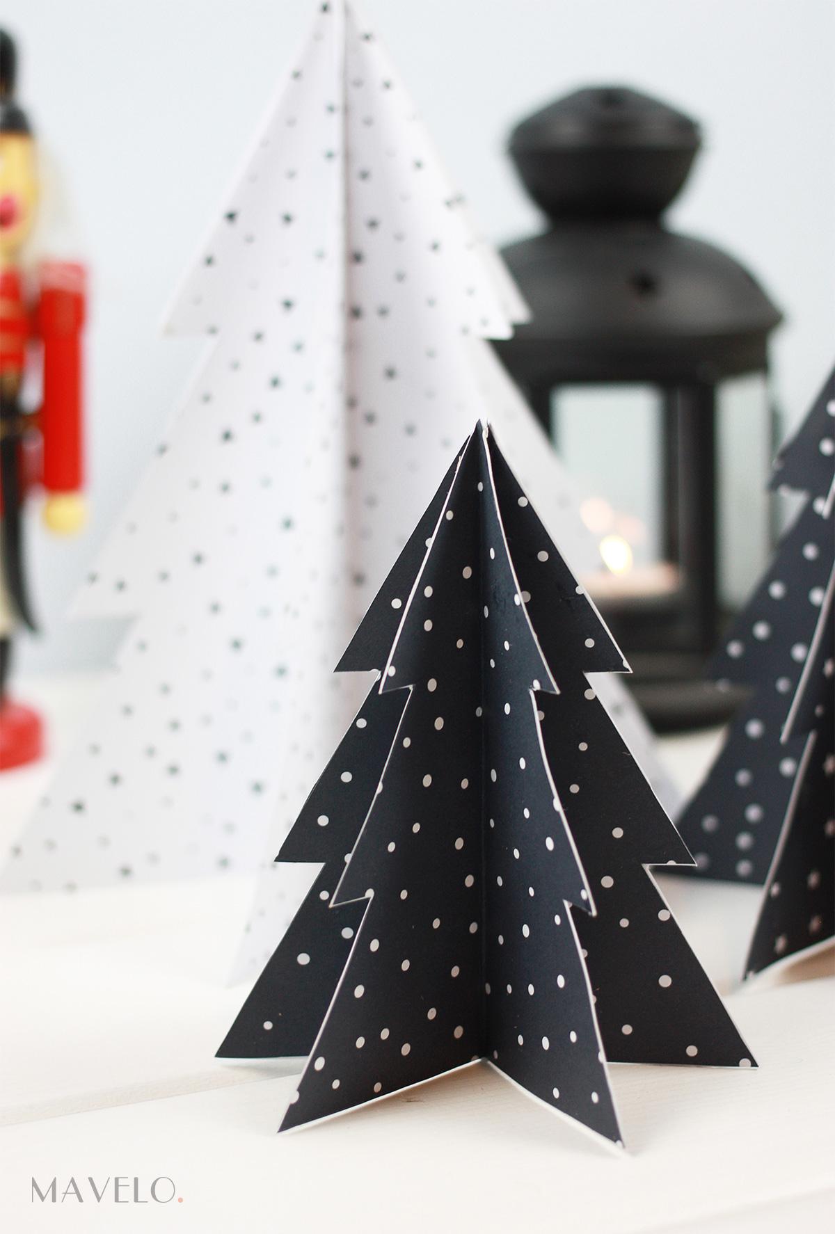 Choinki z papieru DIY / dekoracje swiąteczne