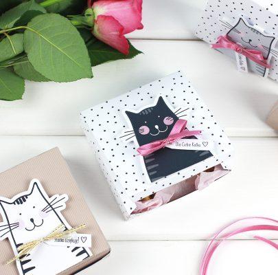 Pudełka z kotkami na prezenty i słodkości