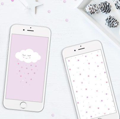 Zimowe chmurki – tapety na telefon do pobrania