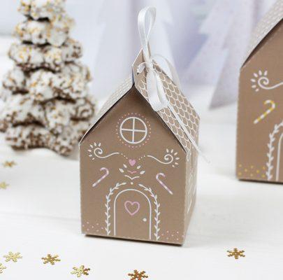 Piernikowa chatka – pudełko na prezenty do druku
