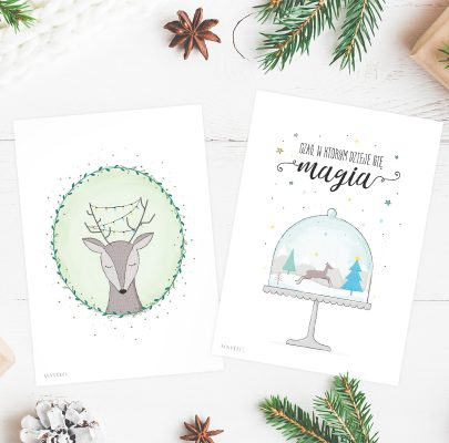 Zimowe plakaty do druku (+kartki świąteczne)
