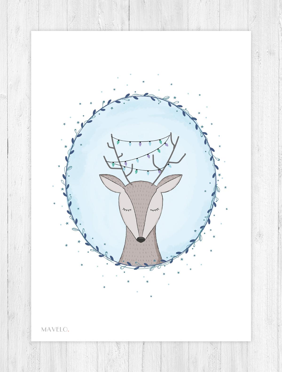 Zimowe Plakaty Do Druku Kartki świąteczne Mavelo