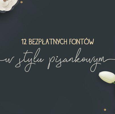 12 bezpłatnych, pisankowych fontów #3