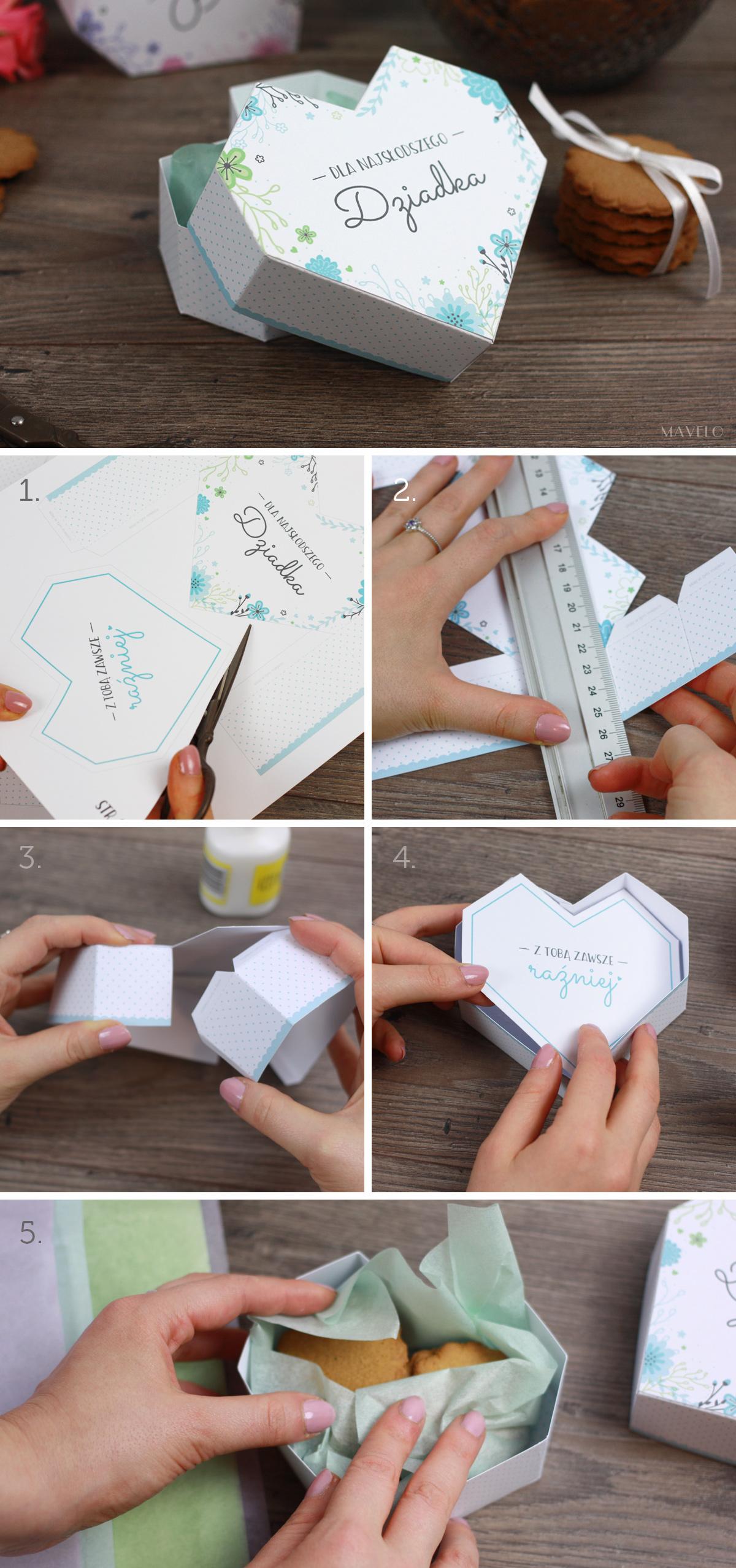 DIY: prezent na Dzień Babci i Dzień Dziadka / pudełka do druku